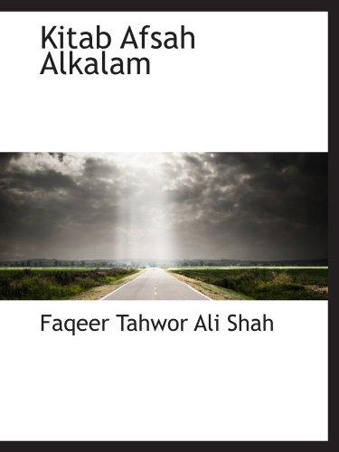 9781116843453: Kitab Afsah Alkalam