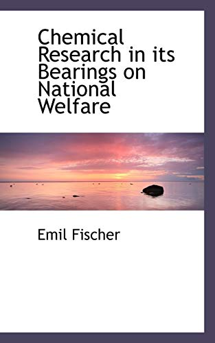 9781116913613: Chemical Research in its Bearings on National Welfare