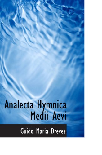 9781116928273: Analecta Hymnica Medii Aevi