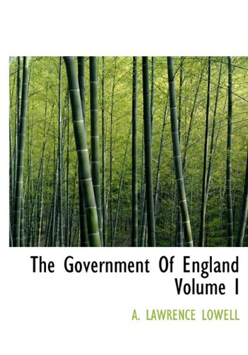 9781116992229: The Government Of England Volume I