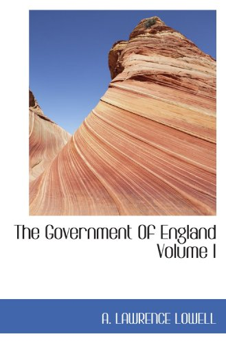 9781116992243: The Government Of England Volume I