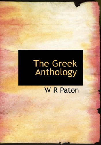 9781117010373: The Greek Anthology