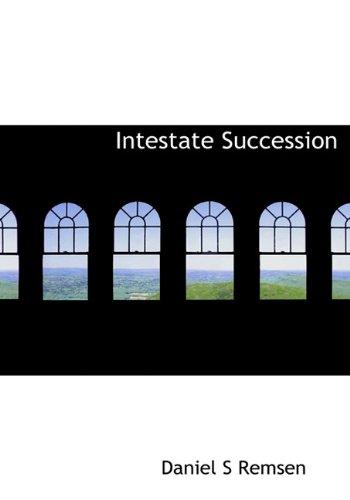 9781117066028: Intestate Succession