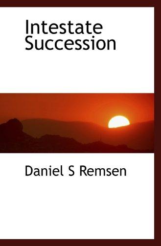 9781117066042: Intestate Succession