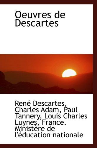 9781117074535: Oeuvres de Descartes