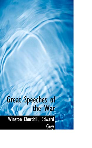 9781117086224: Great Speeches of the War