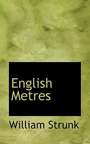 9781117088334: English Metres