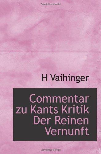 9781117091266: Commentar zu Kants Kritik Der Reinen Vernunft (German Edition)