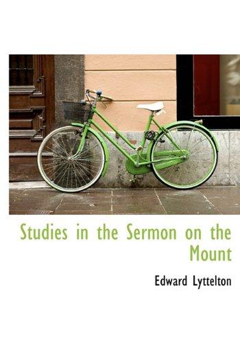 9781117285412: Studies in the Sermon on the Mount