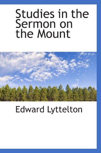 9781117285436: Studies in the Sermon on the Mount
