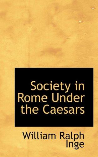 9781117286747: Society in Rome Under the Caesars