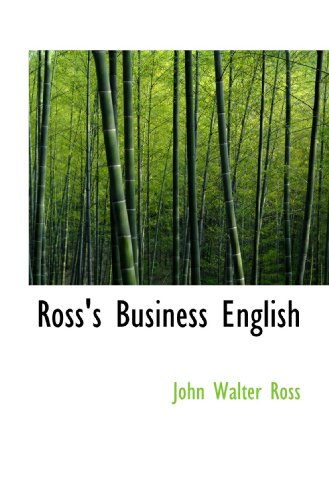9781117299402: Ross's Business English