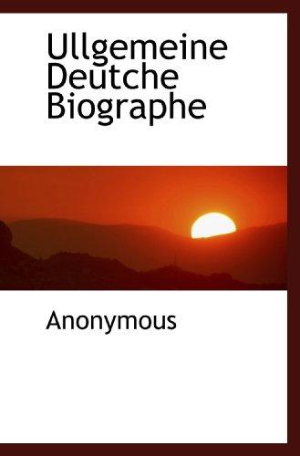 9781117415109: Ullgemeine Deutche Biographe (German Edition)