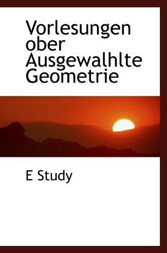9781117418292: Vorlesungen ober Ausgewalhlte Geometrie
