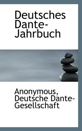 9781117464268: Deutsches Dante-Jahrbuch (German Edition)