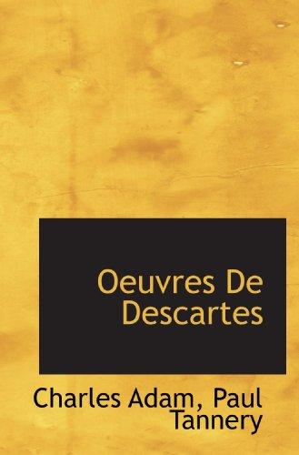 9781117494500: Oeuvres De Descartes (French Edition)