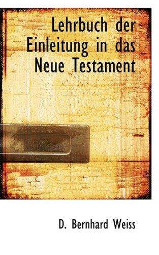 9781117518367: Lehrbuch Der Einleitung in Das Neue Testament (German Edition)