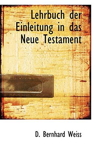 9781117518374: Lehrbuch der Einleitung in das Neue Testament