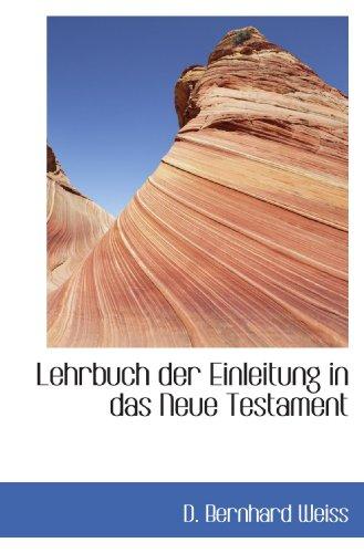 9781117518381: Lehrbuch der Einleitung in das Neue Testament (German Edition)