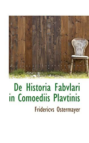 9781117551333: De Historia Fabvlari in Comoediis Plavtinis