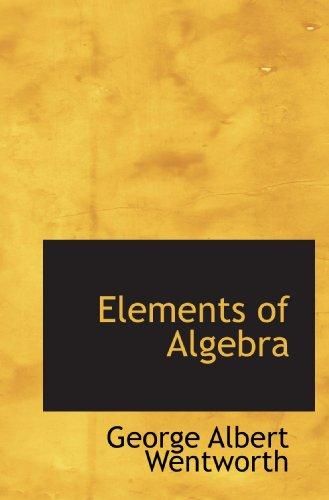 9781117554303: Elements of Algebra