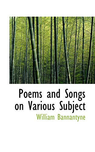 9781117576817: Poems and Songs on Various Subject