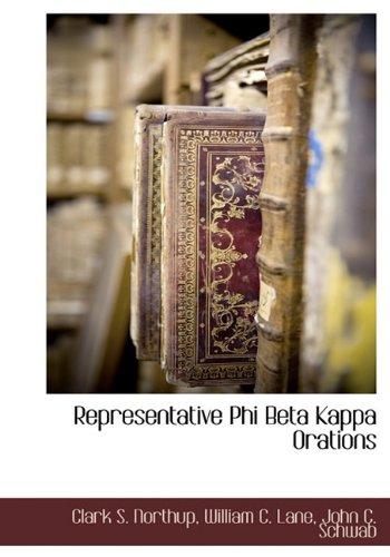 9781117702391: Representative Phi Beta Kappa Orations