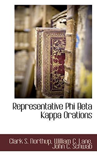 9781117702407: Representative Phi Beta Kappa Orations