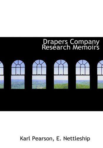 9781117738178: Drapers Company Research Memoirs