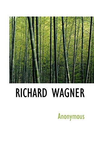 9781117740959: RICHARD WAGNER (French Edition)
