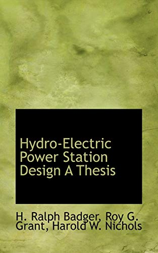 hydroelectric power station design a thesis Moved permanently the document has moved here.