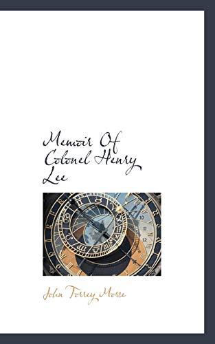 9781117774008: Memoir Of Colonel Henry Lee