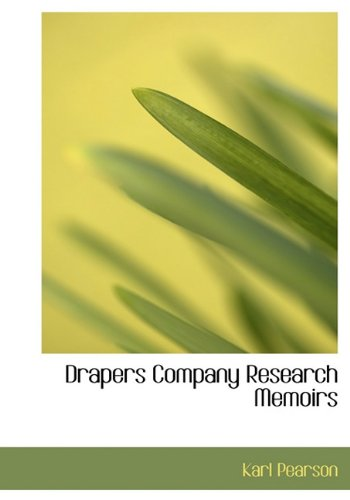 9781117791371: Drapers Company Research Memoirs