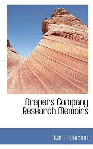 9781117791388: Drapers Company Research Memoirs