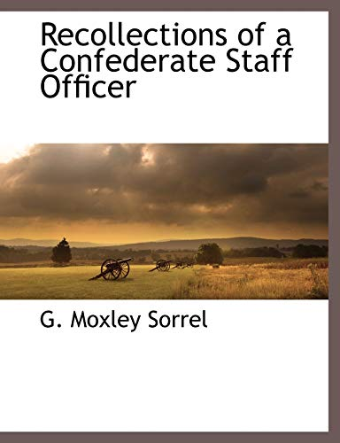 9781117882727: Recollections of a Confederate Staff Officer