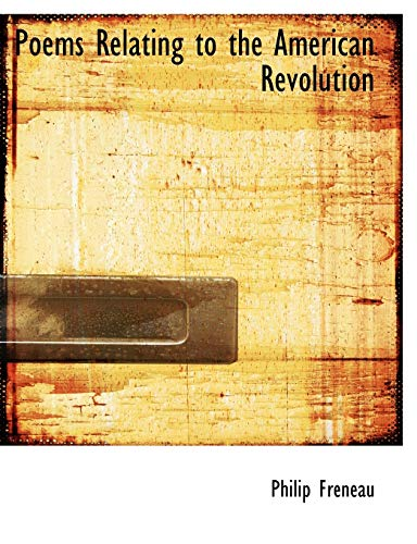 9781117928302: Poems Relating to the American Revolution