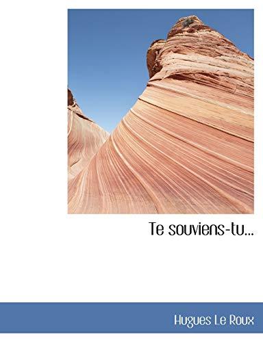 9781117998817: Te souviens-tu... (French Edition)