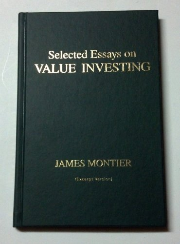 9781118001974: Title: Selected Essays on Value Investing
