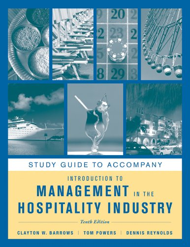 9781118004609: Study Guide to accompany Introduction to Management in the Hospitality Industry, 10e
