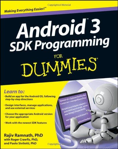 9781118008256: Android 3 SDK Programming For Dummies