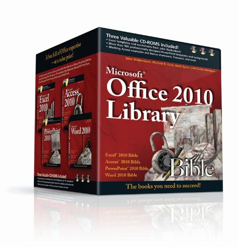 9781118011133: Office 2010 Library: Excel 2010 Bible, Access 2010 Bible, PowerPoint 2010 Bible, Word 2010 Bible