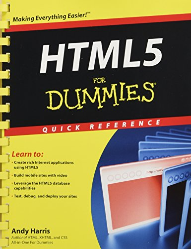9781118012529: HTML5 For Dummies Quick Reference (For Dummies: Quick Reference (Computers))
