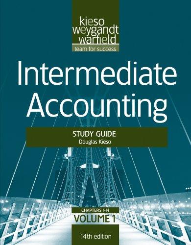 9781118014493 intermediate accounting study guide volume 1 rh abebooks com Intermediate Accounting Kieso 15th intermediate accounting 16th edition kieso study guide