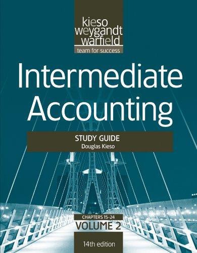 9781118014509: Intermediate Accounting, , Study Guide, Vol. II (Volume 2)