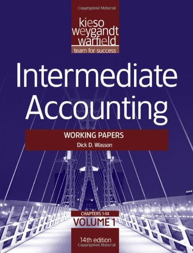 9781118014516: Intermediate Accounting, , Working Papers (Volume 1)