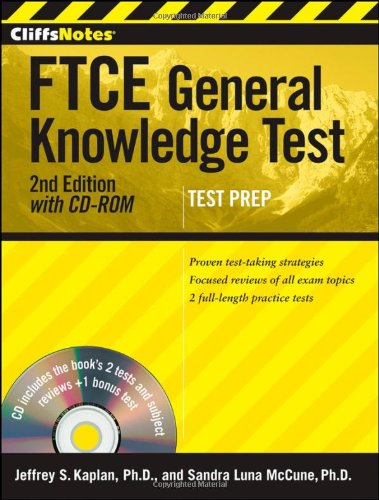 CliffsNotes FTCE General Knowledge Test with CD-ROM,: Luna McCune, Sandra;
