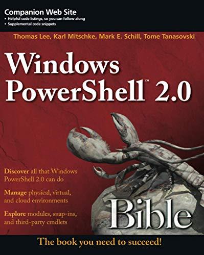9781118021989: Windows PowerShell 2.0 Bible