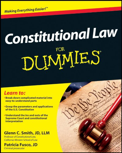 9781118023785: Constitutional Law For Dummies