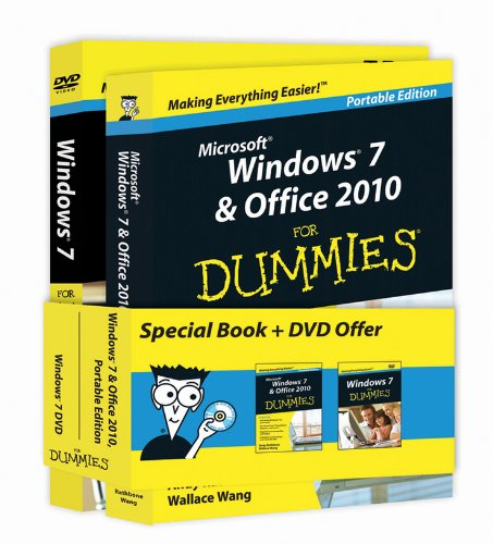 Windows 7 & Office 2010 For Dummies - Portable Edition + Windows 7 For Dummies DVD - Book + DVD Bundle (9781118029411) by Andy Rathbone; Wallace Wang
