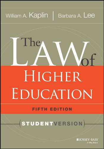 9781118036624: The Law of Higher Education, 5th Edition: Student Version (Jossey-Bass Higher & Adult Education)